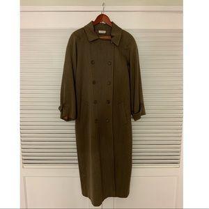 11/12 Ann Taylor Long Khaki button up coat
